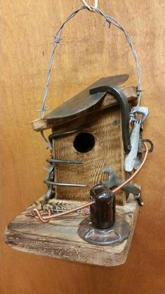 """Weeder"" birdhouse by Greg Theer."