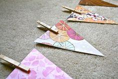 DIY Paper Bunting Flag (via DreamGreenDIY)
