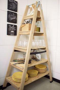 Como fazer estante-escada