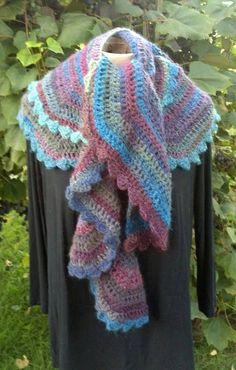 Designer Crocheted Shawl Scarf FREE Shipping in USA by Shelleden, $75.00