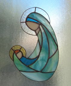 Ornaments – ♥ VIRGIN MARY WITH BABY JESUS ♥ Stained Glass – a unique product by Dare-To-Dream on DaWanda