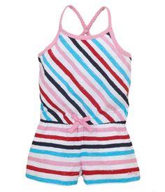 Hatley Rainbow Stripes Girls Playtime Romper