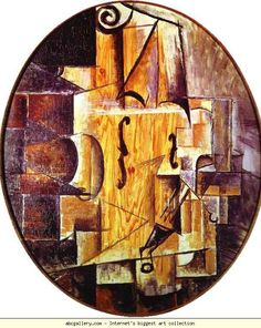 Pablo Picasso. Violin. 1912. Color paper. The Pushkin Museum of Fine Art, Moscow, Russia.