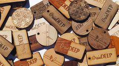 50  1 x 2 Custom Wood Tags-Custom Engraved Tags-Wood by GrainDEEP