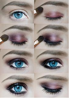 Dark pink makeup--this would look really good during winter and fall when we begin wearing darker colors