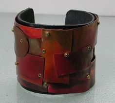 Multi Metals and Copper Patina Cuff Bracelet Cold Connections on Etsy, $40.00