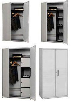Garderobenschränke mit doppelwandige Türen