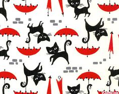 Le Chat - White; #quilting, #fabric, #design