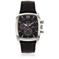 Parmigiani Fleurier Men Kalpagraphe 39.2mm Watch ($18,130) ❤ liked on Polyvore featuring men's fashion, men's jewelry, men's watches, black, mens watches jewelry, stainless steel mens watches, mens chronograph watch and mens black face watches