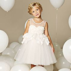 ~~Marseille~~ Our Marseille is just gorgeous! She is sure to turn many heads in this chic dress :) Featuring stunning ivory organza sleeveless bodi. Toddler Flower Girl Dresses, Ivory Flower Girl Dresses, Flower Girl Tutu, Wedding Dresses For Girls, Girls Dresses, Flower Girls, Tulle Tutu, Tulle Dress, Wedding Colors