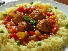 Penne, Pork, Treats, Cooking, Ethnic Recipes, Sweet, Meatball, Red Peppers, Kale Stir Fry