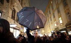 Am 24. Januar hatten 6000 Menschen in Wien gegen den Burschenball der rechtspopulistischen Wiener FPÖ demonstriert, die meisten friedlich.