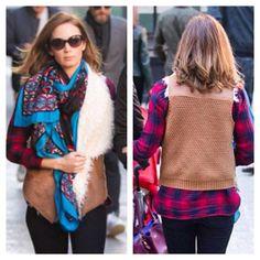 Emily Blunt in Ella Moss Sherpa Vest #perle #sonoma #celebrity #style #emilyblunt #devilwearsprada #actress #fashion #fall #layers #vest