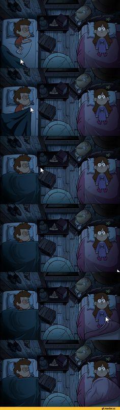 Gravity Falls,фэндомы,кадры,картинки,одеяло,Dipper Pines,GF Персонажи,Mabel Pines,GF Комикс