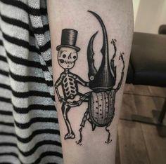 Suflanda instagram tattoo  #beetle #skeleton #dance