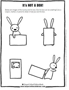 Printable - Goes with NOT-A- BOX. Possible idea to use other shapes when teaching kinder shapes