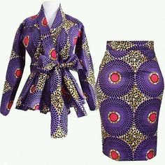 African women clothing/ African peplum blouse and skirt /African fit and flare balls/African peplum jacket and skirt. African Print Skirt, African Print Dresses, African Print Fashion, Africa Fashion, African Fabric, African Prints, African Print Pencil Skirt, African American Fashion, Tribal Fashion