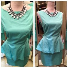 HP 1/201/16 BB Dakota Teal Peplum Dress NWT BB Dakota Teal Peplum Dress NWT, side zipper, size 8. BB Dakota Dresses