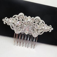 Hey, I found this really awesome Etsy listing at https://www.etsy.com/listing/158450726/rhinestone-hair-comb-bridal-hair-comb