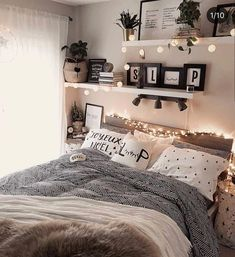 Home Decor Blue 43 cute and girly bedroom decorating tips for girl 39 - -.Home Decor Blue 43 cute and girly bedroom decorating tips for girl 39 - - Modern Bedroom Decor, Room Ideas Bedroom, Dream Bedroom, Contemporary Bedroom, Diy Bedroom, Gray Room Decor, Square Bedroom Ideas, Woman Bedroom, Boho Teen Bedroom