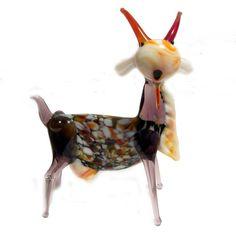 blow glass animals   Home Glass Figurines Farm Animals Glass Goat