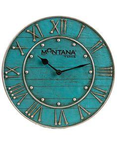 Montana Lifestyles® Horseshoe Nail Wall Clock::Fort Western Online