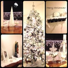 #whitechristmas #christmastree #decoration #white #christmas #ideas #home #lights #love #1st #together