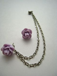 connects to cartilage piercing with matching stud! Way cool :D (from Etsy) Cant wait till I can change my loop :)
