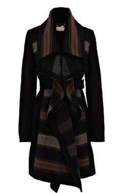 Karen Millen Blanket Stripe Coat