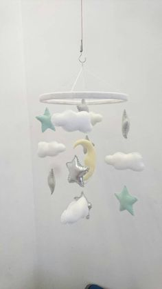 puseky Baby Crib Mobile Felt Baby Room Hanging Decoration Photography Props Baby Nursery Mobiles