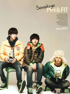 Jinyoung, Baro, and Sandeul -