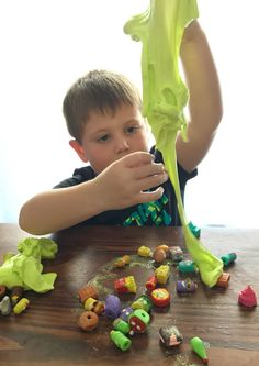All kids love slime, but to make their very own at home is even more fun; this fluffy slime is easy to make and perfect for those Grossery Gang figurines