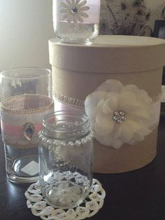 Vintage Wedding Decorations  Mason Jars Cans Candles by MAE2000, $600.00