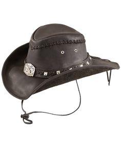 Bullhide Thunderstruck leather cowboy hat