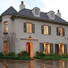 Cote de Texas - home exteriors - French Chateau,  French chateau