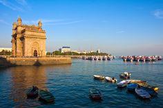 #India: atardecer en Mumbai.