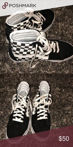 9b04d7b177 Shop Women s Vans Black White size 9 Sneakers at a discounted price at  Poshmark. Description  Black checker board