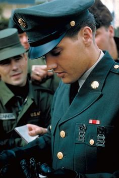 Elvis - probably the most handsome pic of him are those in uniform serving his country! Love his music.