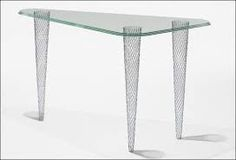 shiro kuramata - Google Search Bauhaus, Memphis, Steel Mesh, Shiro, Souffle, Twilight, Console, Designers, Furniture