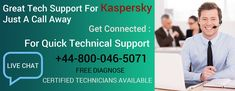 Kasperskey anti-virus is the perfect cyber security tool in use but while using it users often get into some technical errors to settle those connect Security Tools, Help Desk, Tech Support, Connection, Free