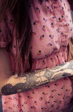 Paisley Arm Tattoos for Women tobiastattoo.com #Arm #Women #tattoos