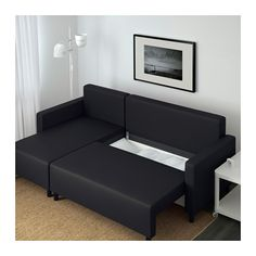 Schlafcouch mit bettkasten ikea  FRIHETEN Eckbettsofa - Skiftebo dunkelgrau, - IKEA | living room ...