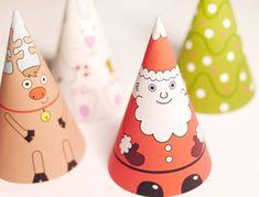 Babbo Natale ed i suoi amici di carta da stampare e costruire