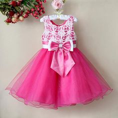 Children's clothing rose female performance child princess dress formal dress…