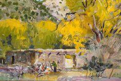 Walt Gonske landscape oil painting Santa Fe Art Auction