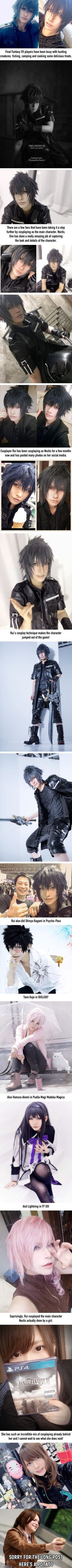 This Final Fantasy XV Cosplayer Rui Could Basically Be an In-Game Screenshot