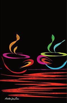 Good Morning Good Morning Black Light by AmberJoyLiemArtShop