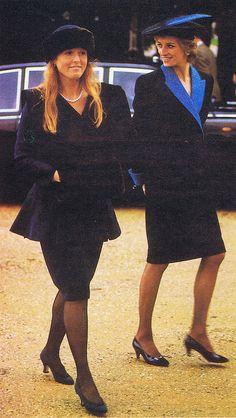 Princess Diana with Sarah Ferguson.....Uploaded By  www.1stand2ndtimearound.etsy.com
