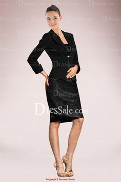Solemn Mother of the Bride Dress in Lace with Grave Jacket