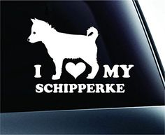 I Love My Schipperke Dog Symbol Decal Paw Print Dog Puppy Pet Family Breed Love Car Truck Sticker Window (White) ExpressDecor http://www.amazon.com/dp/B00SYXLVE4/ref=cm_sw_r_pi_dp_iU52ub13508EV